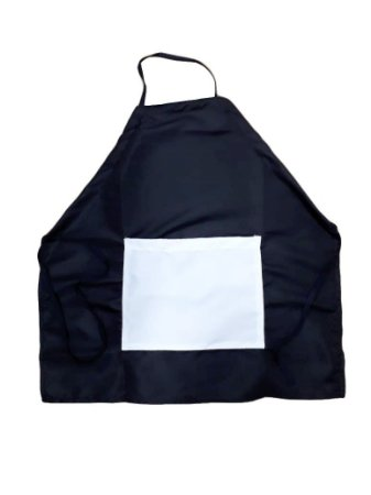 Avental Adulto Preto c/ bolso branco