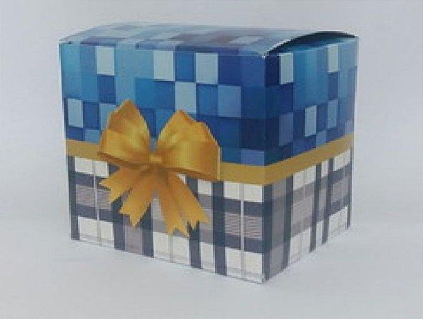 Caixinha para caneca Laço azul - pacote C/ 10un