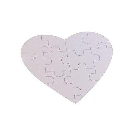 Quebra-cabeça coração 22x18 MDF 12pçs
