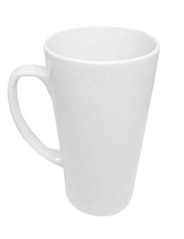 Caneca de ceramica / porcelana para sublimação - cônica grande 500ml