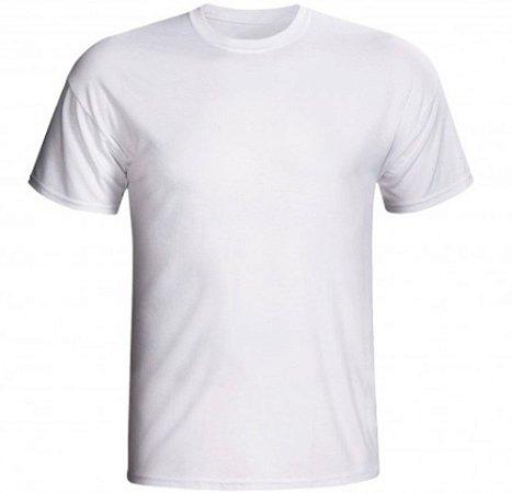 Camiseta poliester premium branca - G