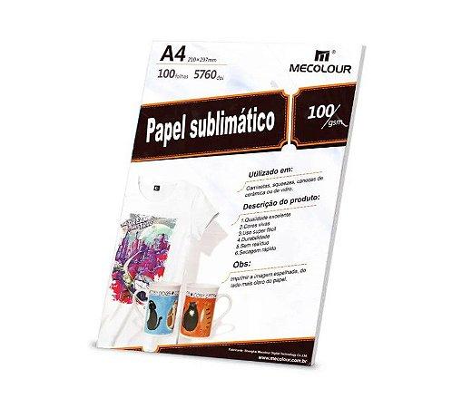 Papel Mecolour A4 - 100 folhas