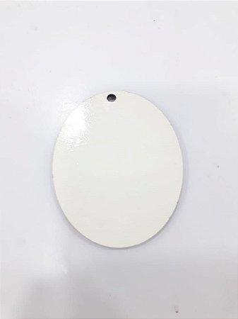 Chaveiro oval em MDF