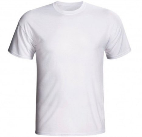 Camiseta poliester branco premium GG