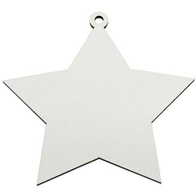 Estrela de natal MDF - c/ 10un