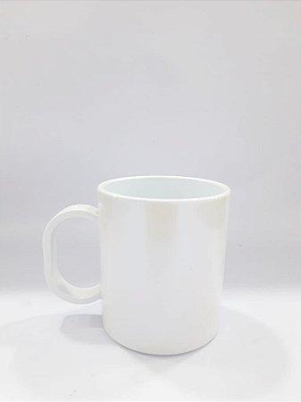 Caneca de polímero premium branca furta-cor