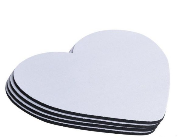 Mouse Pad - Neoprene coração 21x23 3mm