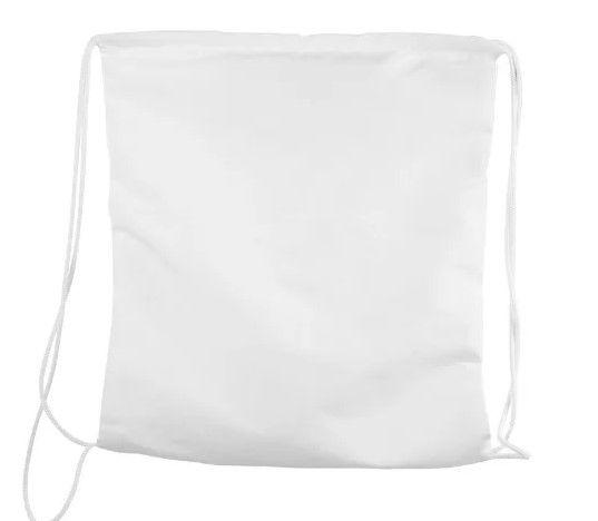 Saco mochila 30x30 branco