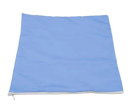 Capa de almofada 35x35 azul/branca