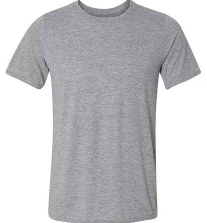 Camiseta de poliéster adulto cinza EXG