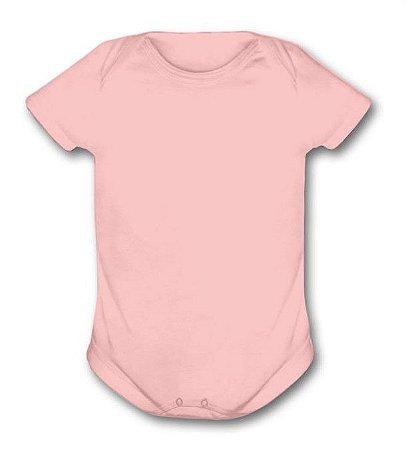 Body de ribana manga curta rosa M
