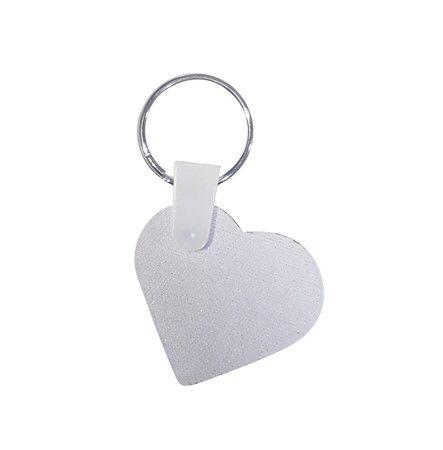 Chaveiro neoprene coração 5x5 3mm