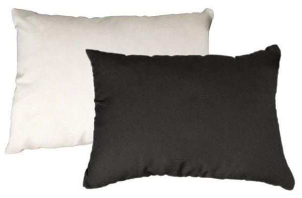 Capa de almofada 20x30 preta/branca