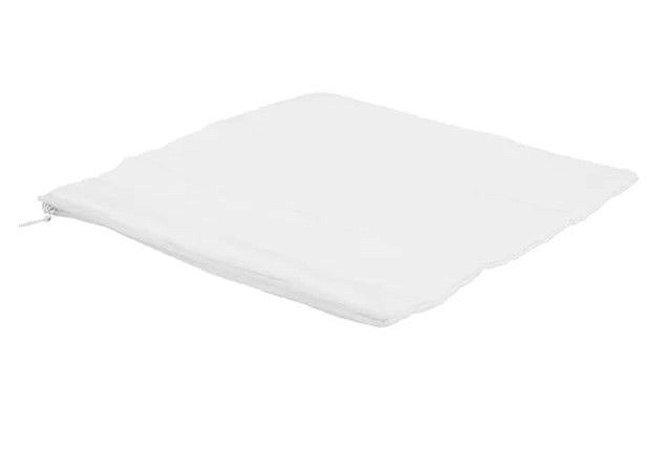 Capa de almofada 40x40 branca/branca
