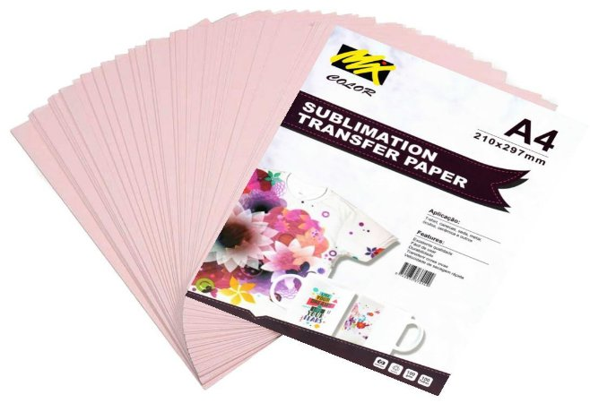 Papel sublimatico mix color - 100 folhas A4