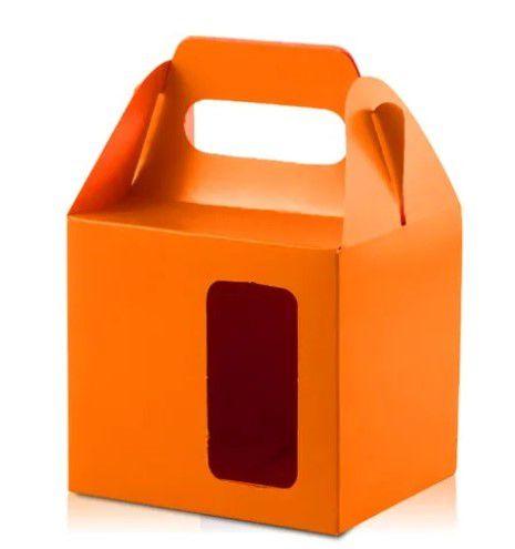Caixa para caneca com visor laranja 12un