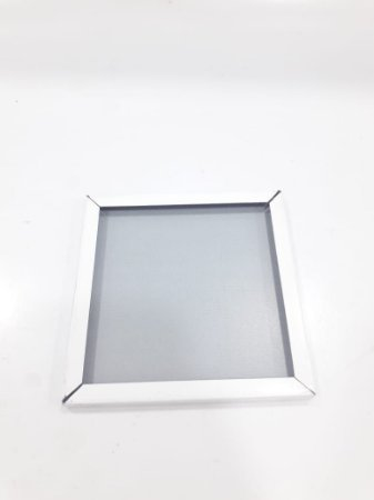 Quadro de inox 10x10 Branco