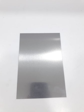 Placa de Metal 20x15 Prata
