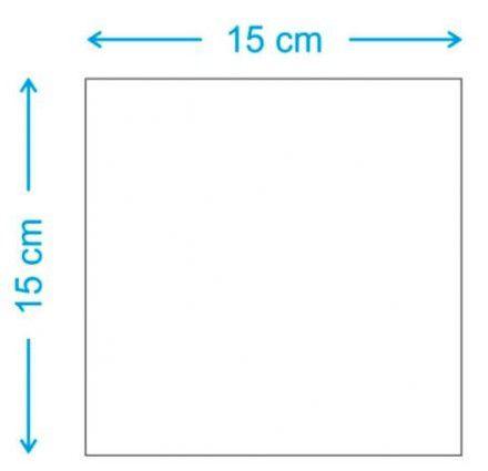 Placa 15x15 em MDF