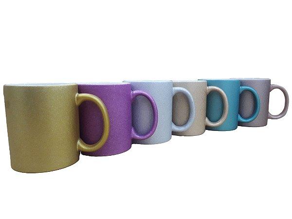 Caneca de ceramica / porcelana para sublimação - Glitter