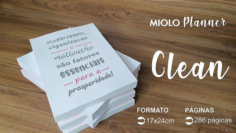 MIOLO DE PLANNER 2022 CLEAN - 286 PÁGINAS - OFFSET 90G. PB - Embalagem unitária