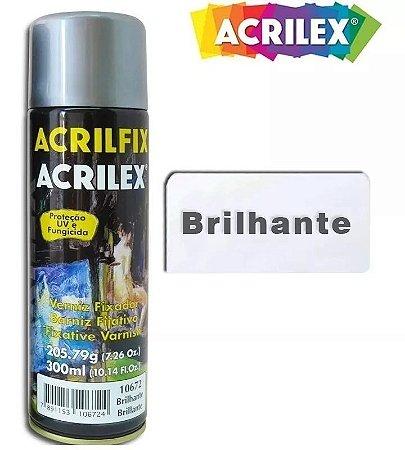 Verniz Spray Fixador Brilhante 300ml Acrilfix Acrilex