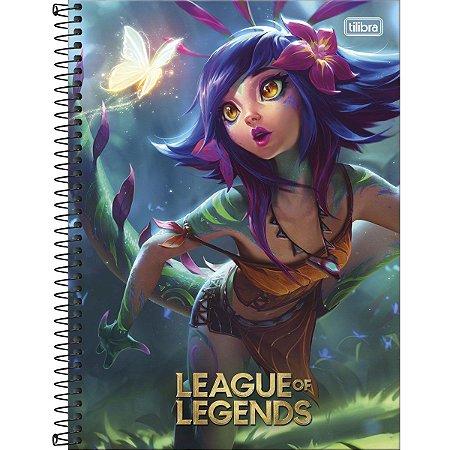 Caderno League Of Legends 10 Matérias 160 Folhas - Lançamento