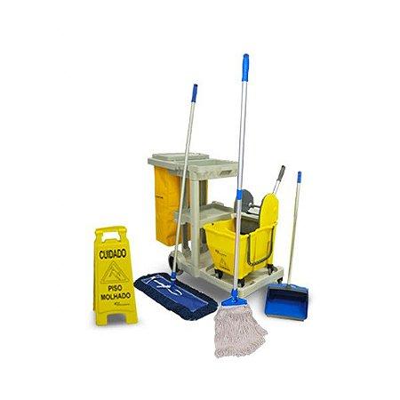 Carrinho de Limpeza Mop Kit 3 com Balde Doblô e Acessórios - Completo