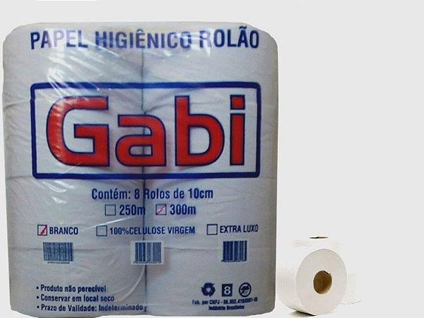 Papel Higiênico Rolão Branco Folha Simples com 8 rolos Gabi