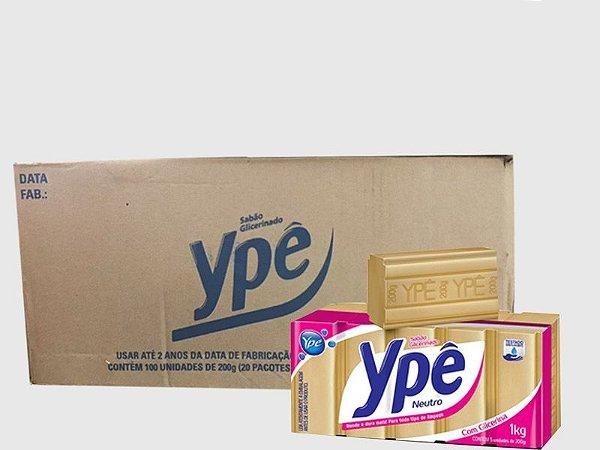 Sabão em barra Ypê Glicerinado caixa com 20 pacotes