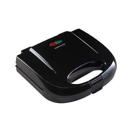 Sanduicheira e Grill Antiaderente 750W Preto - Black SA - Agratto