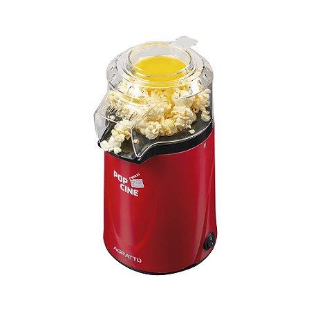 Pipoqueira Elétrica 1200W com Dosador Vermelha - Pop Cine PP - Agratto