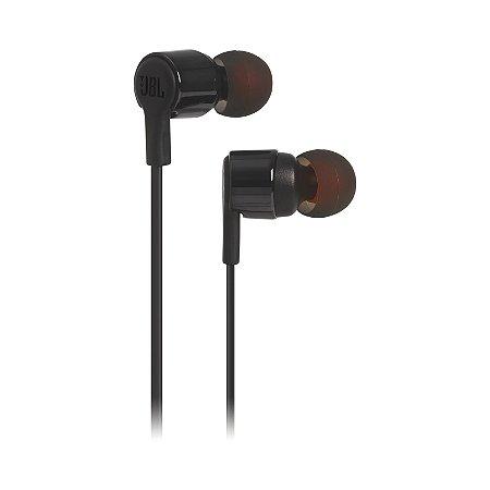 Fone de Ouvido Intra Auricular JBL T210 In-Ear Microfone Preto