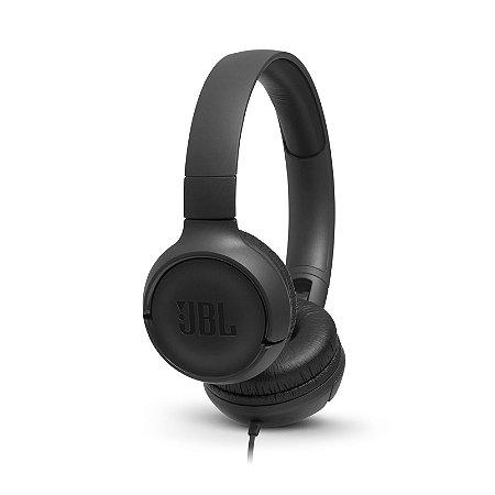 Fone de Ouvido Headphone JBL T500 com Microfone - Preto