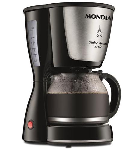 Cafeteira Elétrica Mondial Dolce Arome 32 Xícaras 800W C32I Preto - 127V