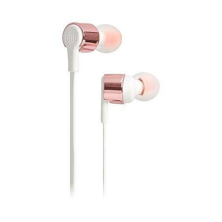 Fone de Ouvido Intra Auricular JBL T210 In-Ear Microfone Rose