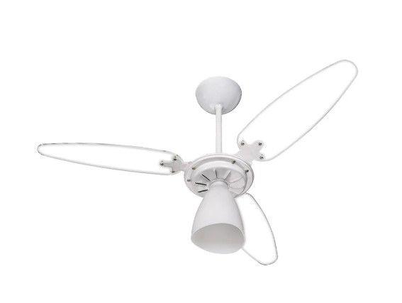 Ventilador de Teto Ventisol Br 3 Pás Cv3 Wind Light 404 Branco/Transparente 127v