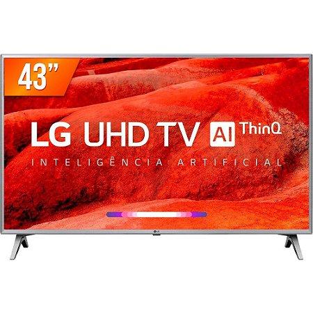 "Smart TV LED ThinQ AI 43"" LG 43UM751C Ultra HD 4K HDMI USB Wi-Fi Integrado"
