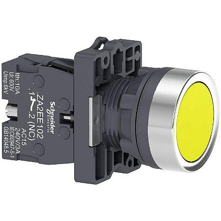 Botão 22mm Plástico a Impulsão 1NA Amarelo - XA2EA51 Schneider Electric