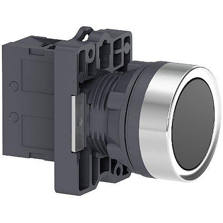 Botão 22mm Plástico a Impulsão 1NA Preto - XA2EA21 - Schneider Electric