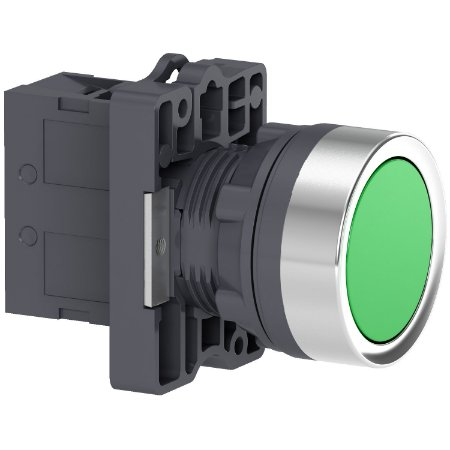 Botão 22mm Plástico A Impulsão 1NA Verde - XA2EA31 - Schneider Electric