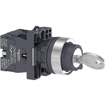 Comutador 22mm Plástico Chave 2 Posições Fixas Retira Esquerda e DIireita 2NA - XA2EG43 - Schneider Electric