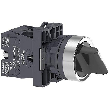 Comutador 22mm Plástico Manopla Curta 2 Posições Fixas 1NA - XA2ED21 - Schneider Electric