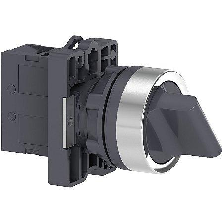 Comutador 22mm Plástico Manopla Curta 2 Posições Fixas 1NA + 1NF - XA2ED25 - Schneider Electric
