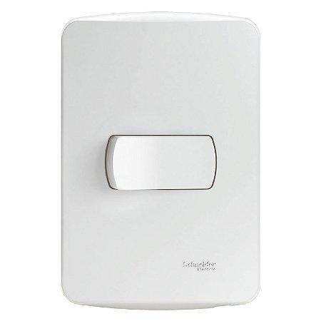 Conjunto Interruptor Simples Miluz 10A 250V Branco - S3B62010 - Schneider Electric