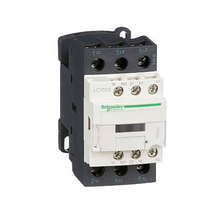 Contator Tripolar 32A 1NA+1NF 24VCA - LC1D32B7 - Schneider Electric