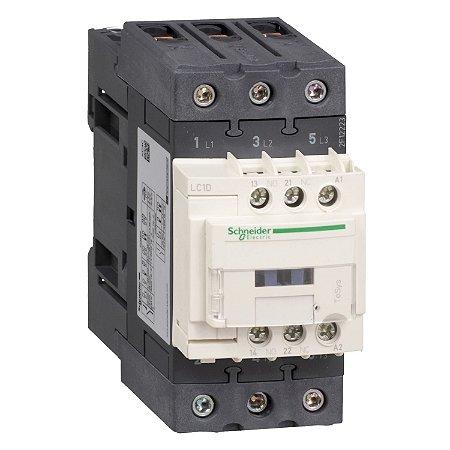Contator Tripolar Tesys D Everlink 50A 1NA+1NF 220VCA - LC1D50AM7 Schneider Electric