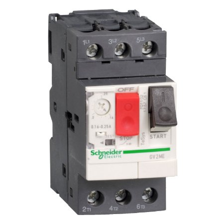 Disjuntor Termomagnético Tesys GV2 17-23A Botão Impulsão - GV2ME21 - Schneider Electric