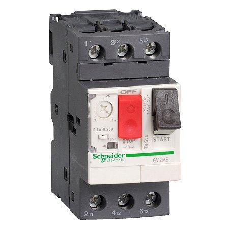 Disjuntor Termomagnético Tesys GV2 20-25A Botão Impulsão - GV2ME22 Schneider Electric