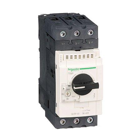 Disjuntor Termomagnético Tesys GV3 Everlink 30-40A Manopla Rotativa - GV3P40 Schneider Electric